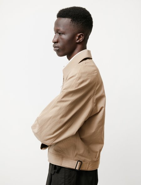 Lemaire Military Blouson shirt - Dark Beige