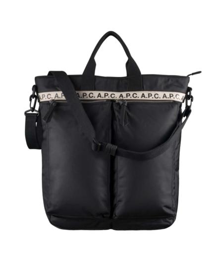 APC Repeat Logo Shopper - Black
