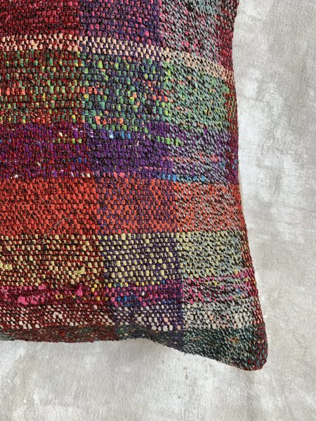 Cuttalossa & Co. Jewel Tone Textured Plaid Throw Pillow