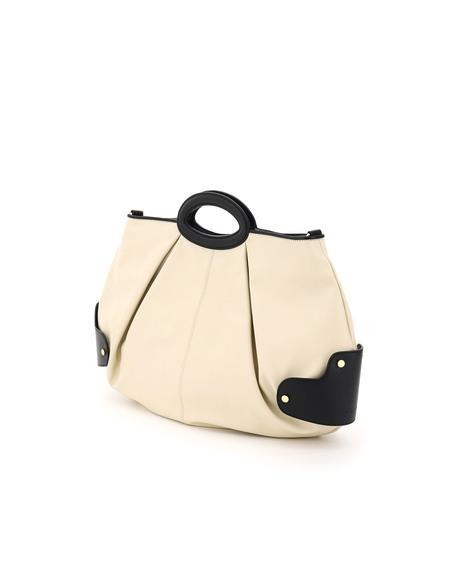 Marni Two-Tone Balloon Medium Bag - cream/black