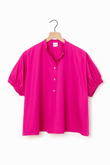 Aspesi Boxy Poplin shirt - Fuchsia
