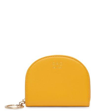 OAD Calf Dia Mini Mirror Wallet - Honey