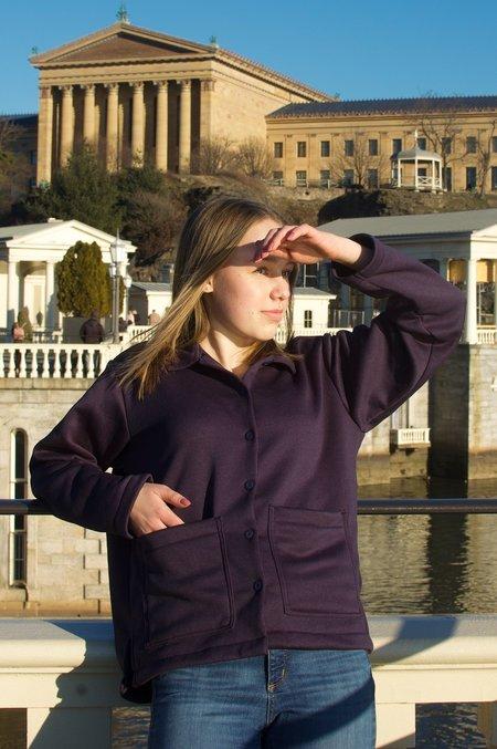 Conrado Nicole Fleece Chore Jacket - Navy