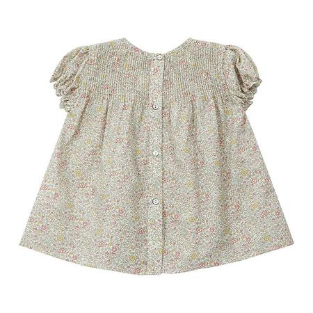 kids Bonton Baby Arome Floral Print Dress - Green