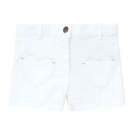 Kids Bonton Australie Denim Shorts - Pearl White