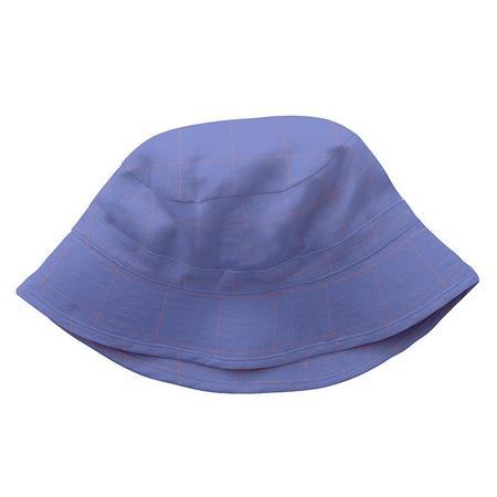 Kids Oeuf Bucket Hat - Iris Blue Checks