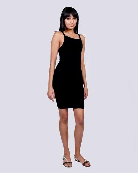 giu giu Knit camisole mini dress - black