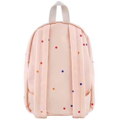 kids tinycottons ice cream dots backpack - pastel pink