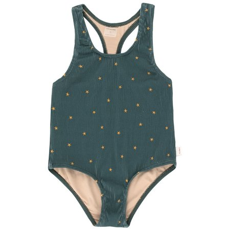 kids tinycottons starfish swimsuit - ink blue/honey