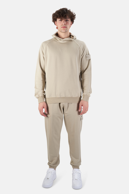 Stone Island Ghost Piece Cotton Hooded Sweatshirt Sweater - Khaki