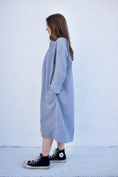 Caron Callahan Aurora Dress - Blue Gauze Stripe