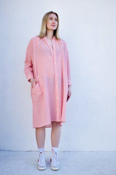 Caron Callahan Aurora Dress - Pink Gauze Stripe
