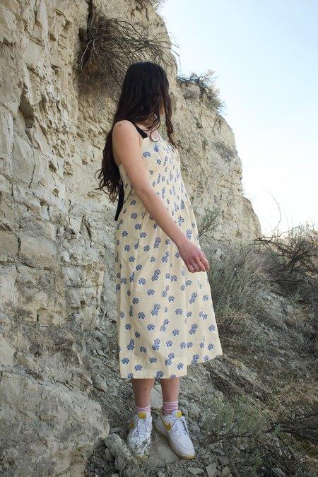 Caron Callahan Virgina Shibori Silk Cotton Dress