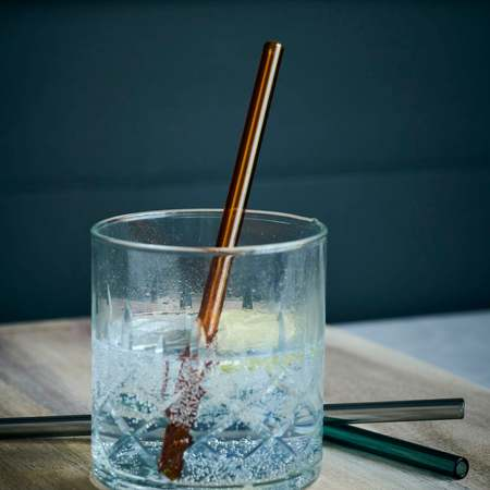 House Doctor Set of coloured glass straws