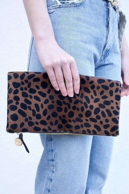 Clare V. Foldover Clutch - Leopard