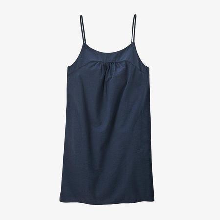 Patagonia Organic Cotton Seersucker Dress - Willow/Stone Blue
