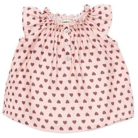 Kids Bonton Hearts Baby Blouse - Rose