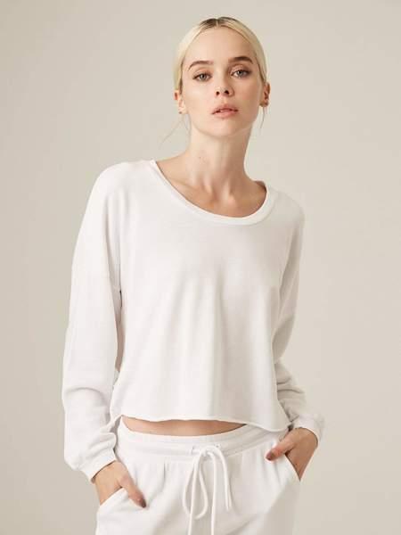 Lanston Sport Cutout Back Pullover - white