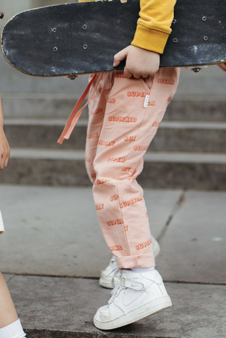 kids unisex Olive and the Captain Super You Pant - Peach Pink
