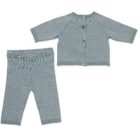 kids bonton baby cotton set - sage