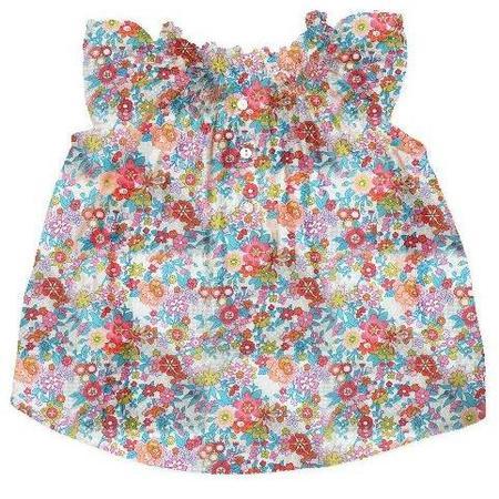 kids bonton liberty floral baby blouse - daisies