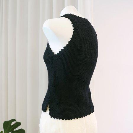 Rachel Comey Lilium Cotton Boucle Top - Black