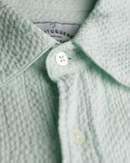 Portuguese Flannel Marisol Shirt - Aqua Marine