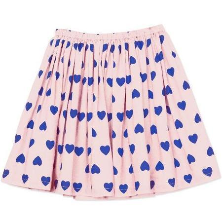 kids bonton hearts woven skirt - pale pink