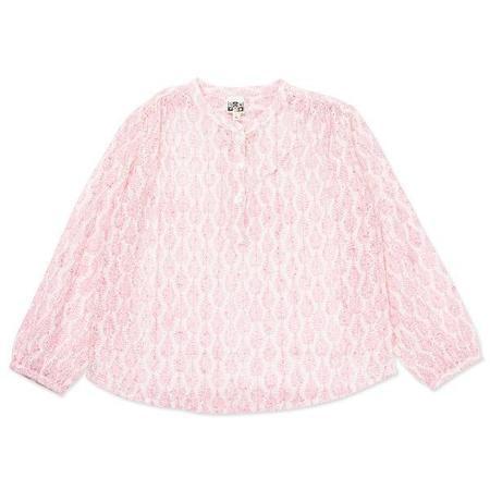 kids bonton leaves tunic - pink