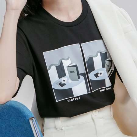 Matter Matters spot the differences Tee Shirt - Black