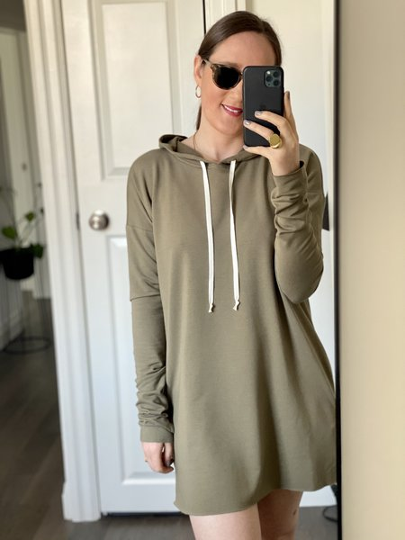 CLEMENTINE'S Hoodie Dress - Olive