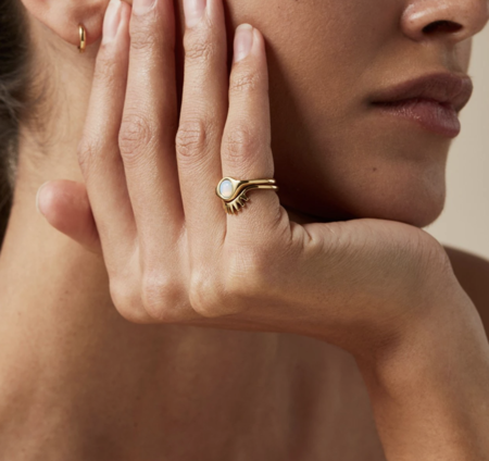 Jenny Bird Lia set ring - 14k Gold/brass