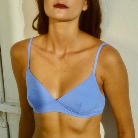 Laura Urbinati Amalfi Longline Bralette Bikini Top - Blue