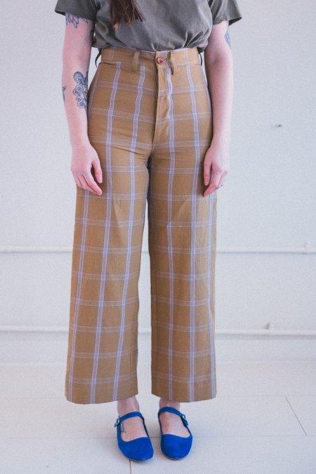 Caron Callahan Stewart Pants - Mustard Windowpane Plaid