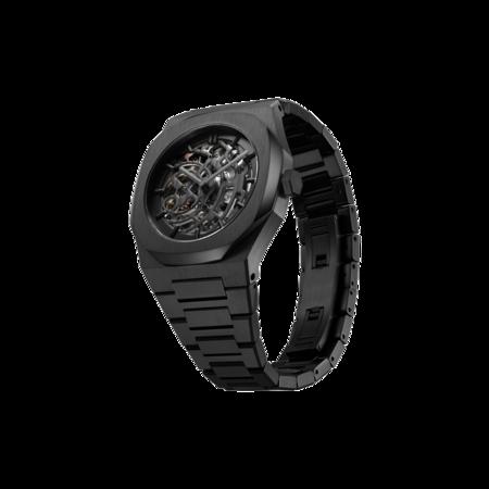 D1 Milano X-Ray Skeleton Bracelet 41.5 MM D1-SKBJ04 watch - Black Stainless Steel