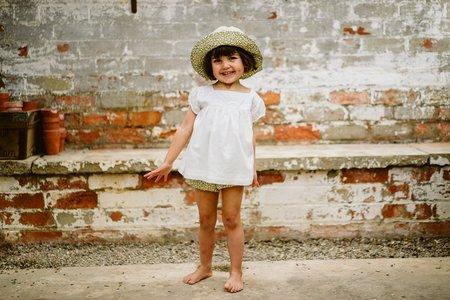 little cotton clothes Jocelyn Blouse - Yoke Ivory