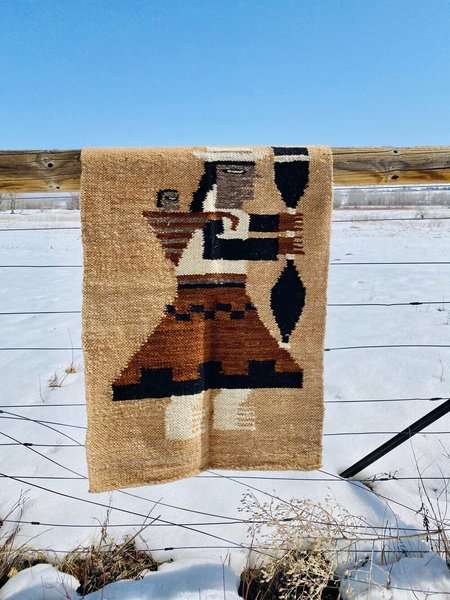 Vintage MOUNTAIN MAMA TEXTILE WALL HANGING