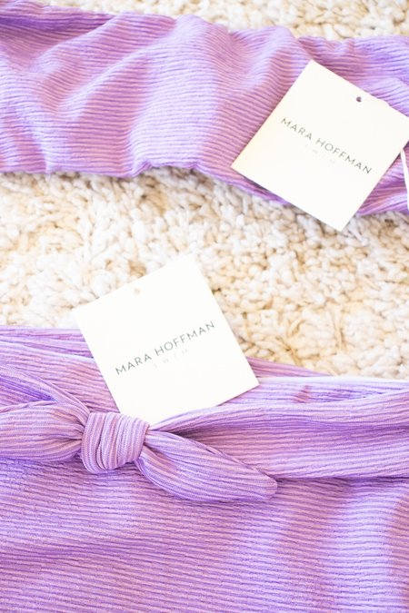 Mara Hoffman Jay Bikini Bottom - Lavender