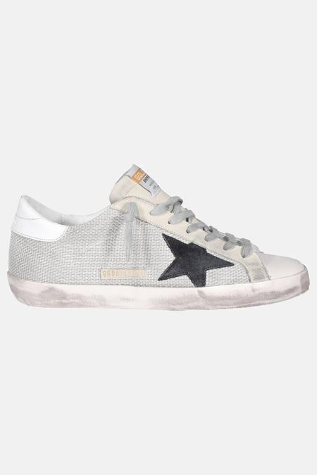 Golden Goose Superstar Shoes - Silver/Black