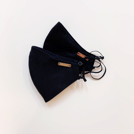 Studio Heijne Set 2 x silk Face Mask and silk pouch - Black
