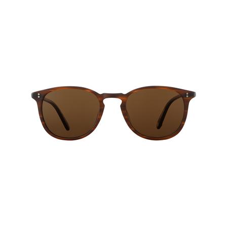 Garrett Leight Kinney Polar Sunglasses - Matte Brandy Tortoise