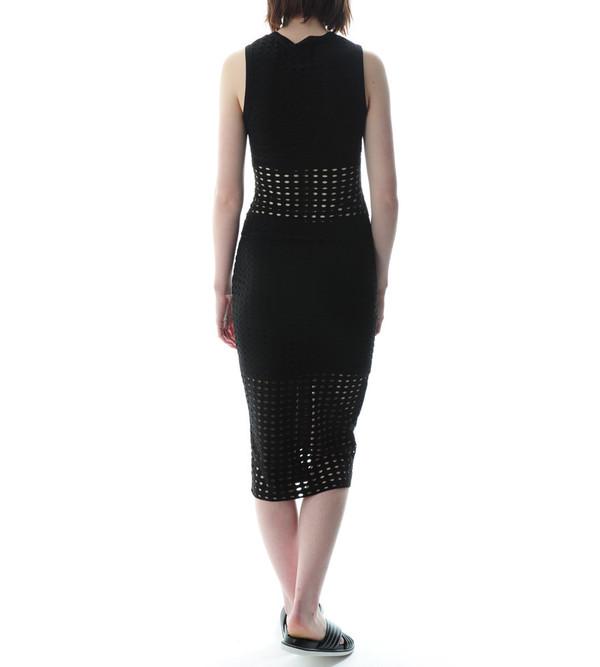 T By Alexander Wang Circular Hole Jacquard Jersey Skirt