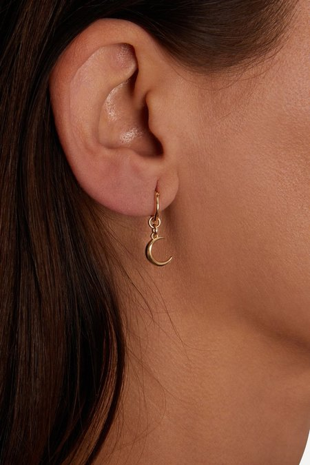 Talon Crescent Moon Hoop earrings - Sterling Silver