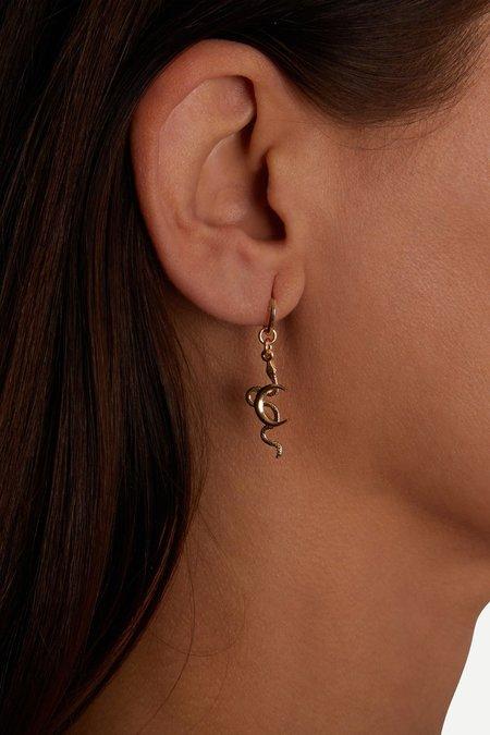 Talon Snake Moon Hoop earring - Sterling Silver