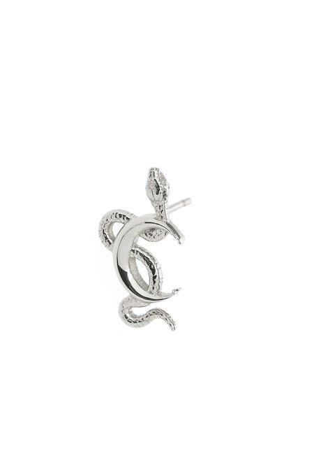 Talon Snake Moon Stud earrings - Sterling Silver