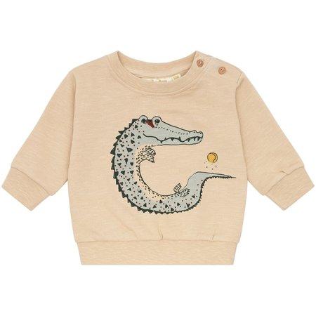 Kids Soft Gallery Buzz Sweatshirt Crocoball - Beige