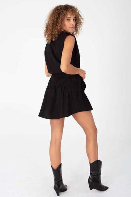 Stillwater Strong Shoulder Mini Dress - Black