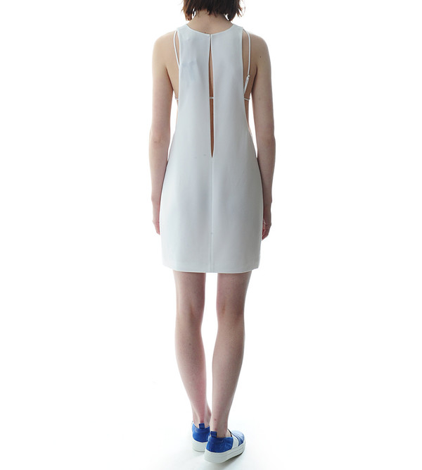 T By Alexander Wang - Poly Crepe Bra Strap Camisole Dress
