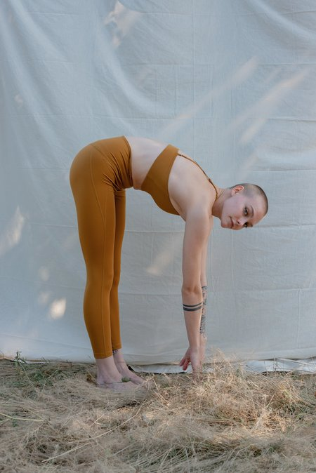 GIRLFRIEND COLLECTIVE HIGH RISE COMPRESSIVE 28.5 LEGGINGS - SADDLE