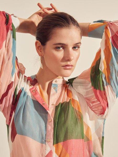 Suncoo Lehanne Graphic Print Blouse - Multicolour